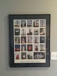 light house collage poster with black wooden frame Portsmouth, 23701
