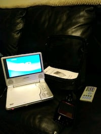 Portable DVD player with inverter