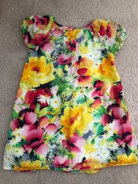 Yellow, pink, and green floral tank top Aldie, 20105