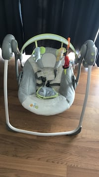 baby's gray and white swing chair Bayville, 11709