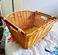 Wicker Laundry Basket with Reversible Clothe Toronto, M2R 3N7