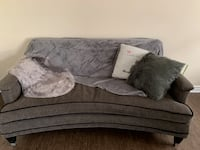 Grey stylish couch with pillows London, N6K 2X7