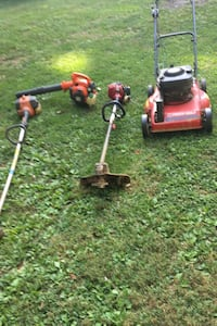 Lawnmower,2 Weedeaters, and a Blower. Everything 100 dollars. Troybilt Self Propelled Electric Start Mower,Long Shaft Husqvarna Weedeater, Husqvarna Blower and a Long Shaft Craftsman Weedeater. Buy as if if don't run. The mower does and the Craftsman does Johnson City, 37615