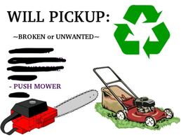 Looking for unwanted free mowers for parts