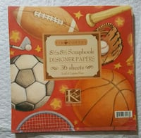Sports 8×8 Scrapbook Paper  Ottawa, K2A 1E6