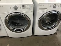 white front-load washer and dryer set Paterson, 07501