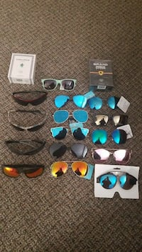 several assorted sunglasses