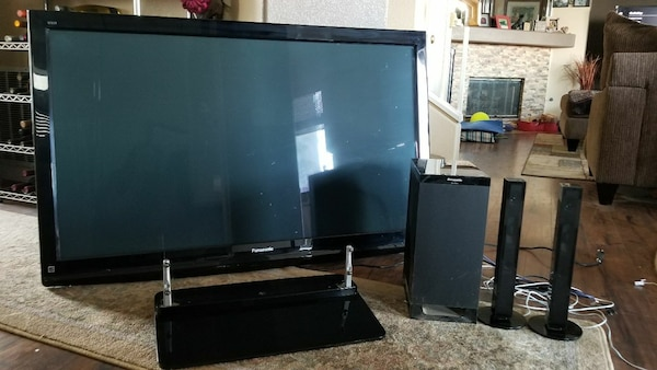 "54"" Panasonic Viera PlasmaTV and Sound bar"