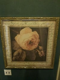 white and red rose flowers painting Leduc, T9E 5S1
