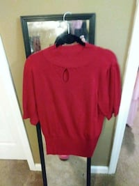 red and black crew-neck sweater Braselton, 30517