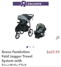 Brand new Graco jogger travel system !