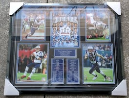 New England Patriots superbowl plaque