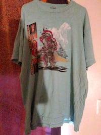 teal and gray graphic crew-neck t-shirt Yakima, 98902