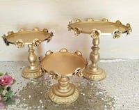 Brand New  3pcs Cake stands set - Gold - Available for pick up Toronto, M1B 5J4