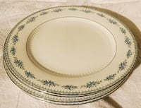 Set of 4 White and Green Floral Ceramic Plates Rochester Hills