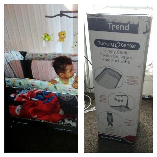 Used Trend Nursery Center Pack N Play Crib With Box Collage For