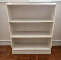 Three Tier Shelving Unit in White Vaughan