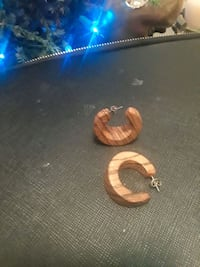 Handmade wooden hoop earrings Tampa, 33618