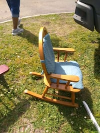 Toddler rocking chair solid wood