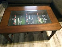 brown wooden framed glass top coffee table Phoenix, 85041