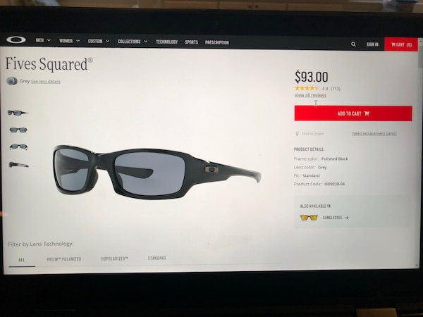 Brand new Oakley Fives Squared