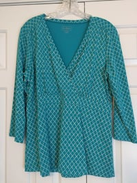 teal and black button-up long-sleeved shirt Damascus, 20872