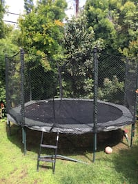 14ft AlleyOOP® PowerBounce System w/Enclosure and Ladder Los Angeles