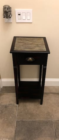 Entry dark cherry console table with drawer  , 07444