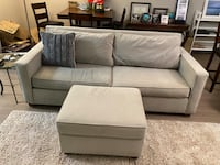 4 year old West Elm couch w/ottoman