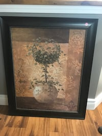 black wooden framed painting of flowers Saint-Zotique, J0P