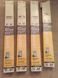 Blinds (3) 31x64, (1) 30x64, $25 for all 4 OR $7 each Statesboro, 30461