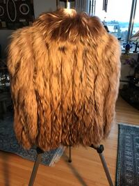 DESIGNER COYOTE JACKET. Stripes of Coyote Fur and Stripes