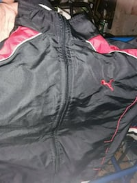 Men's black and red windbreaker Vancouver, V6A 1N4
