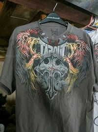 gray and brown Tapout-printed crew-neck t-shirt Germantown, 20876