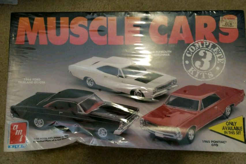 Photo AMT ERTL Muscle Cars Complete 3 Kit
