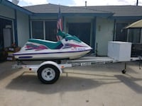 white and green personal watercraft Highland, 92346