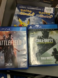 two Sony PS4 game cases Green Bay