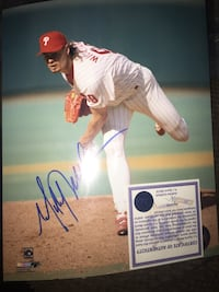Mitch Williams 8x10 SIGNED Vaughan