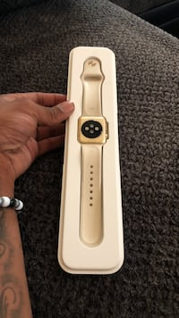 gold Apple watch with white sports band Chandler, 85225