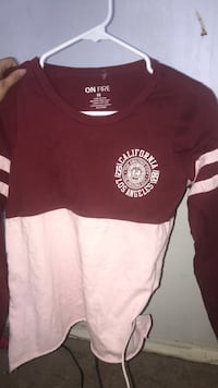 red and white On Fire crew-neck sweater Hesperia, 92345