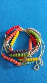 yellow, red, and blue beaded necklace 43 km