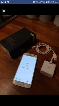Samsung galaxy s7 with charger and box