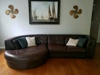 Leather couch Summerville