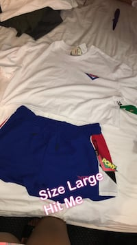 two blue and white Nike shorts Riverside, 92503