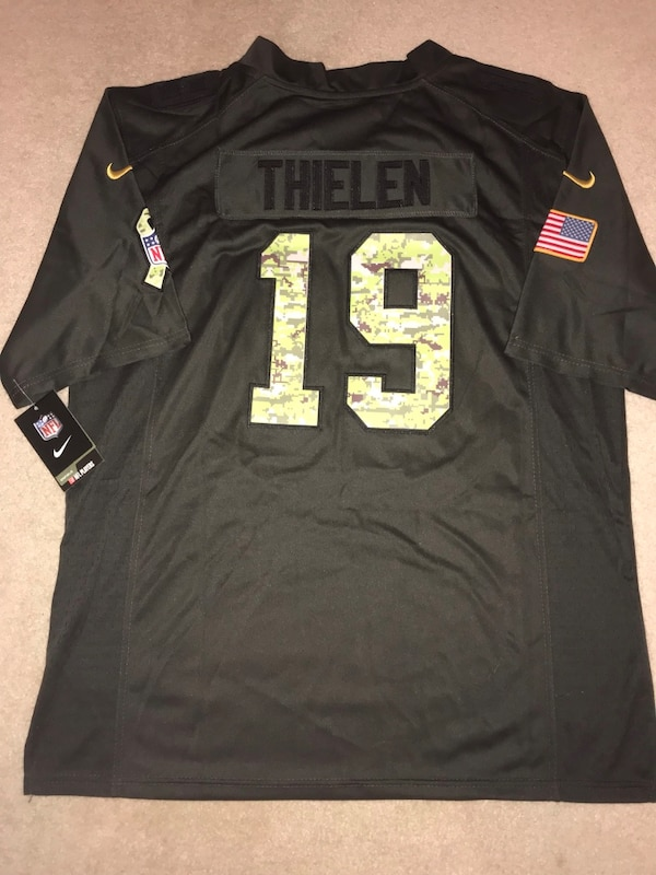 pretty nice 79497 4a91a Adam Thielen Vikings military camo jersey size medium