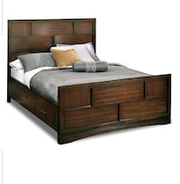 Queen Captain's bed with 2 side tables  Severn