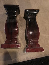 two black and red glass candle holders Union Bridge, 21791