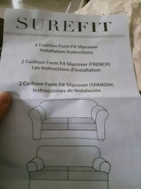 Brand new slip cover for a love seat. Never used. Toronto, M9V 2G8