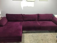 Purple Velvet sectional sofa  Washington, 20003
