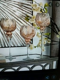Rose Gold set of Candle Holders